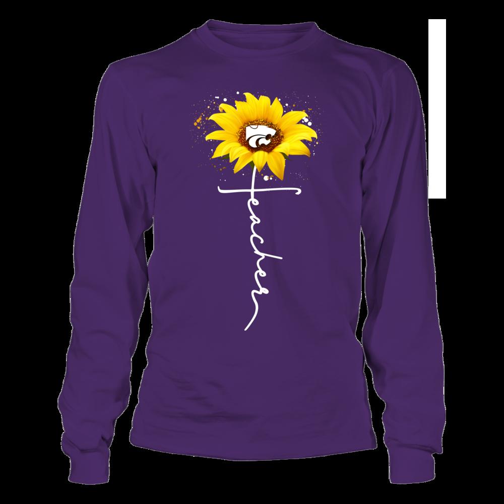 Kansas State Wildcats - Sunflower - Teacher In Cross Shape Front picture