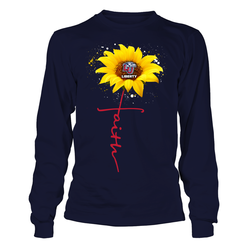 Liberty Flames - Sunflower - Faith In Cross Shape Front picture