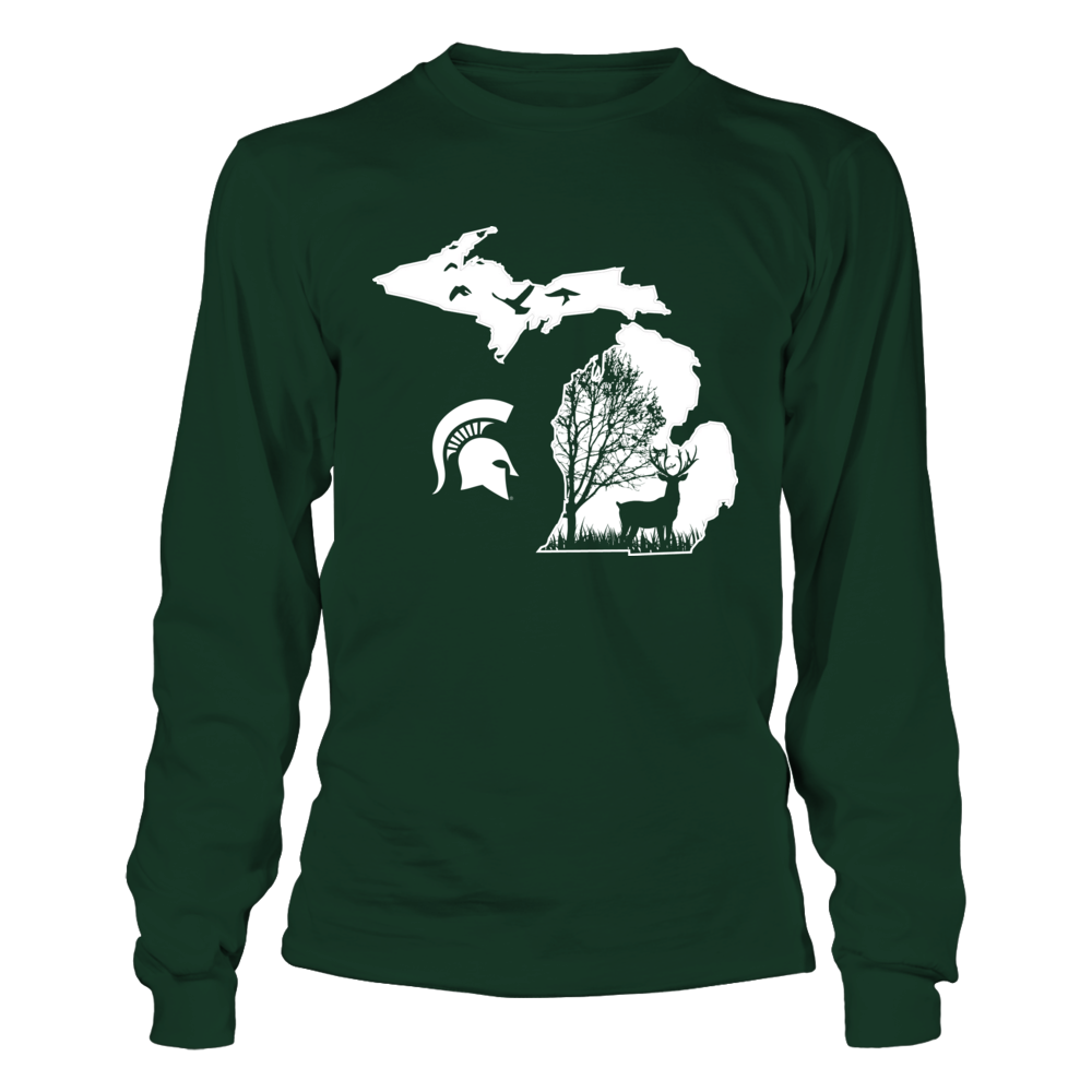 Michigan State Spartans - Hunting - Deer In The Woods Front picture