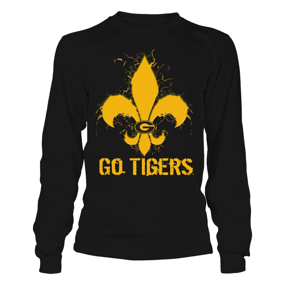 Grambling State Tigers - Cracked Fleur De Lis Front picture