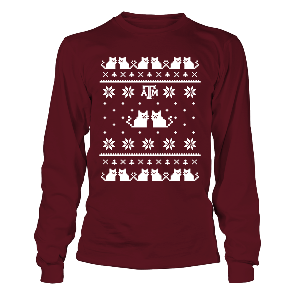 Texas A&M Aggies - Christmas - Cat Ugly Sweaters Front picture
