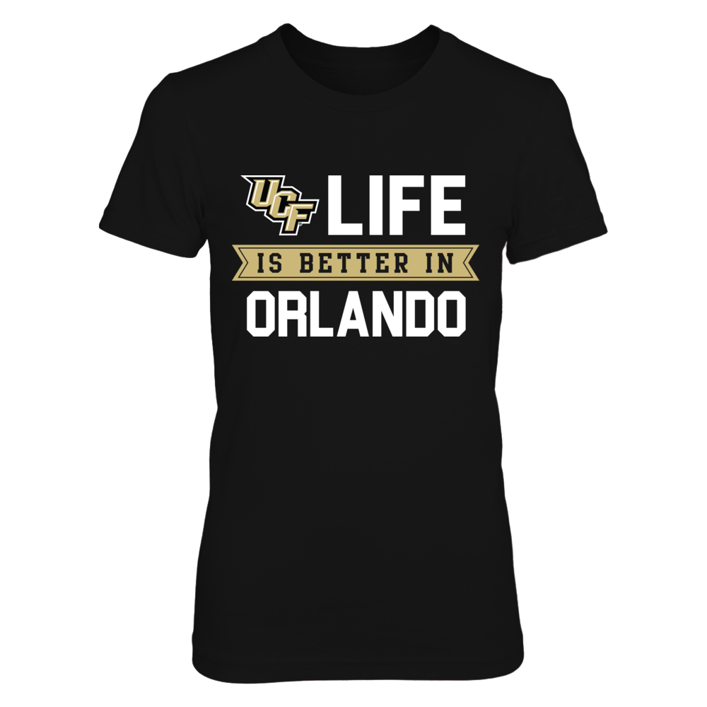 Life is Better in Orlando UCF Knights T-Shirt Front picture
