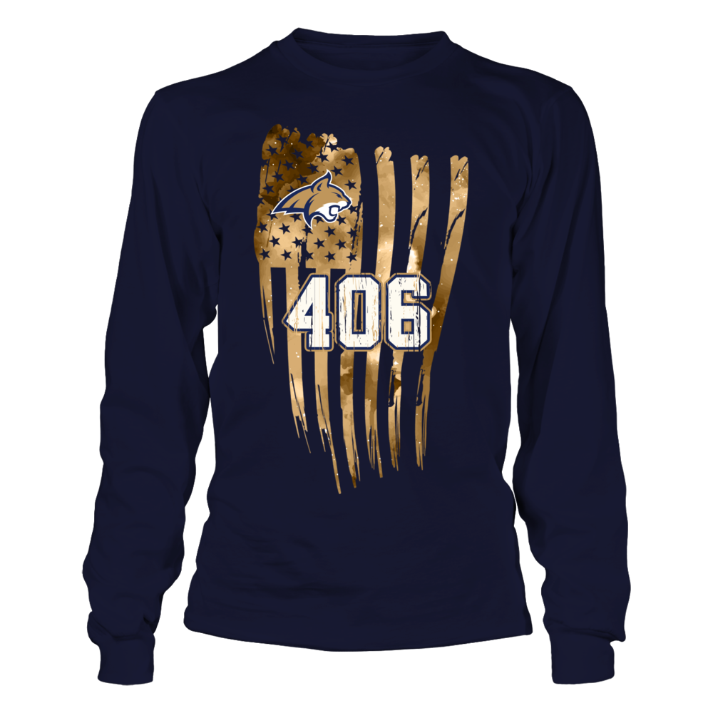Montana State Bobcats - Area Code Galaxy Flag  - IF-IC32-DS45 Front picture