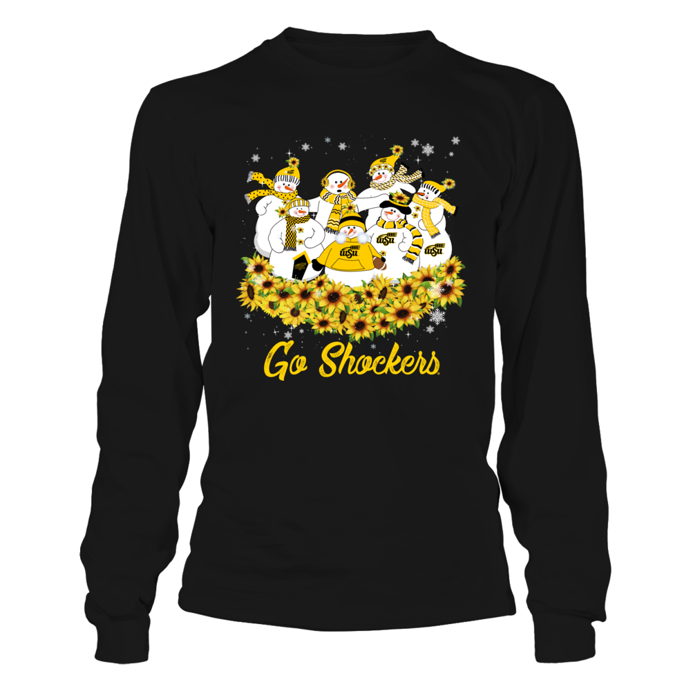 Wichita State Shockers - Christmas - Sunflower Snowman Front picture
