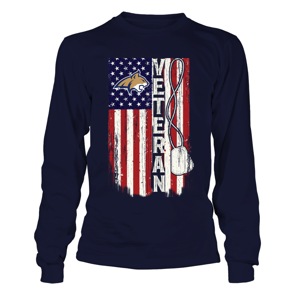 Montana State Bobcats - Veteran - Veteran Flag Front picture