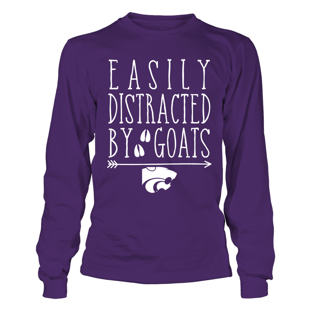 Kansas State Wildcats - Farmer - Easily Distracted by Goat Front picture