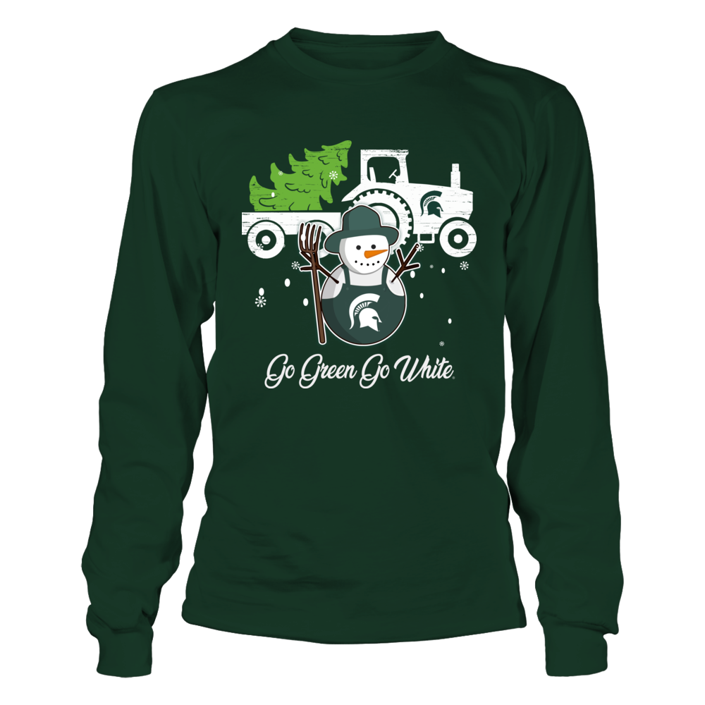 Michigan State Spartans - Christmas - Farmer - Snowman Front picture