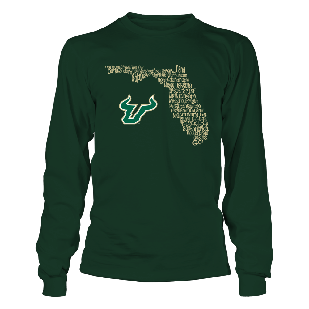 South Florida Bulls - Fight Song Inside State Map - IF-IC13-DS27 Front picture