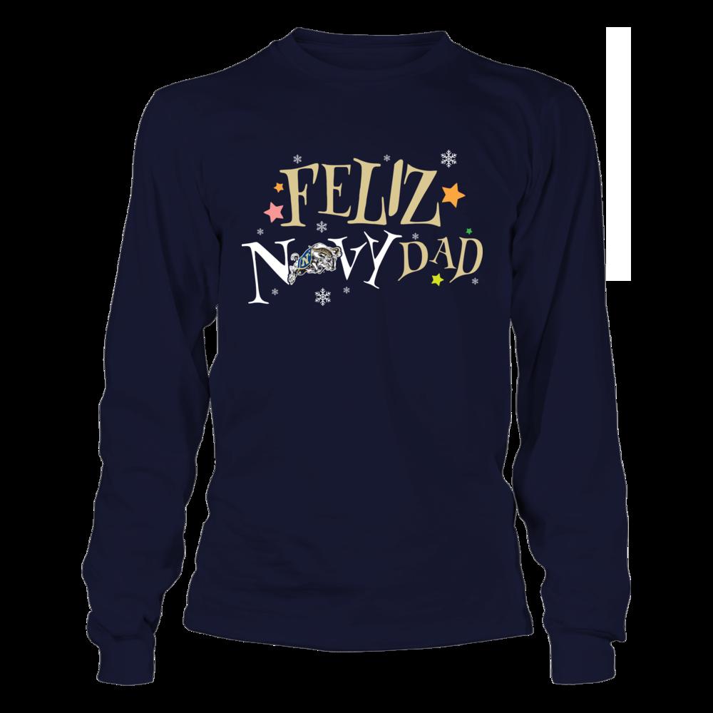 Navy Midshipmen - Feliz Navydad Logo Front picture