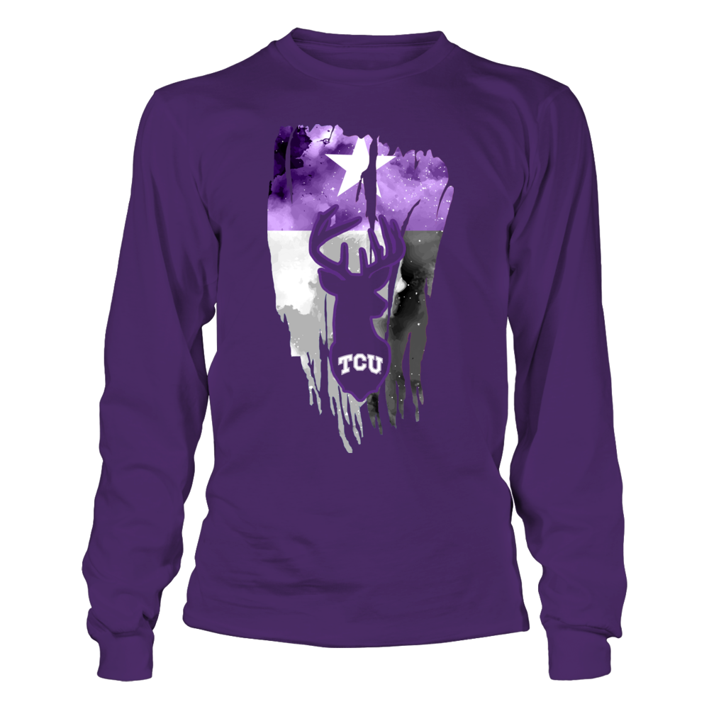 TCU Horned Frogs - Hunting - Deer Inside Color Drop Flag Front picture