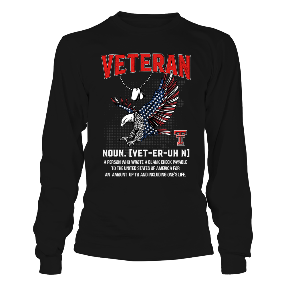Texas Tech Red Raiders - Veteran - Veteran Definition Front picture