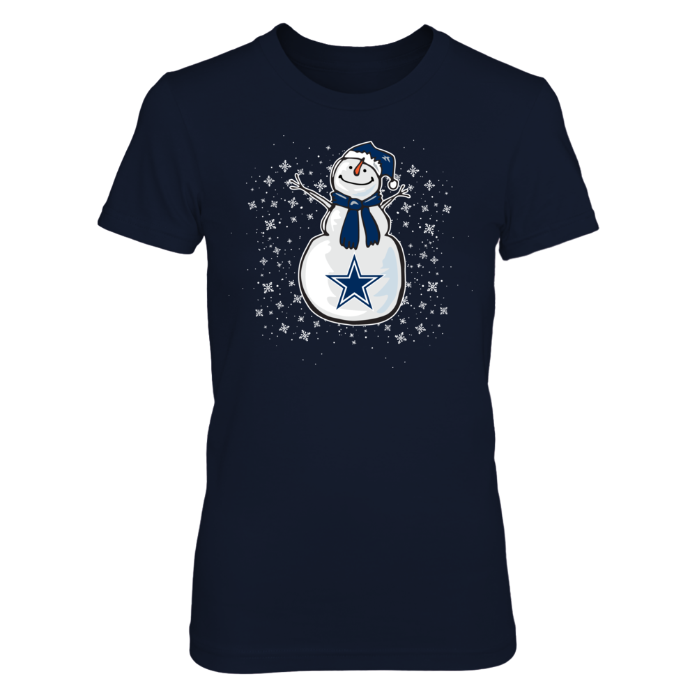 Cute Snowman Dallas Cowboys T-Shirt | Tank Front picture