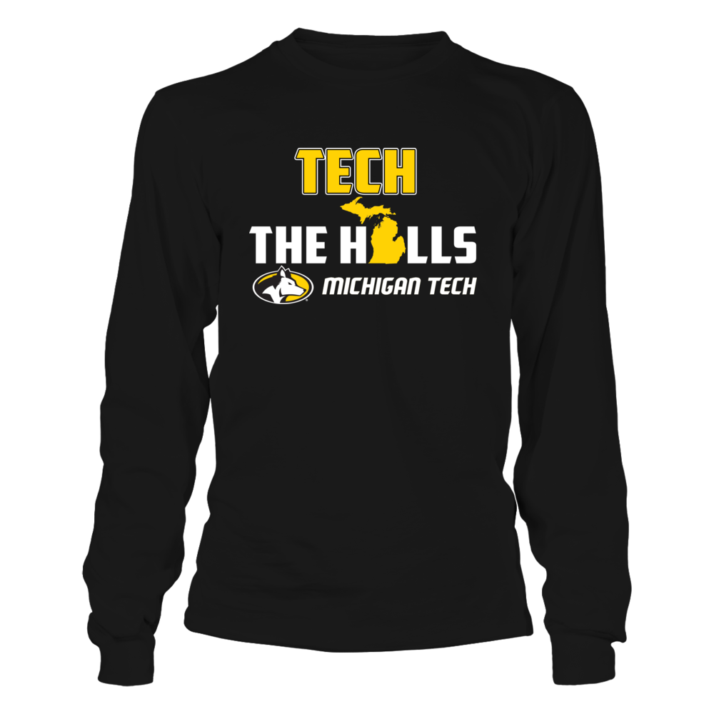 Michigan Tech Huskies - Tech The Halls State Map Front picture