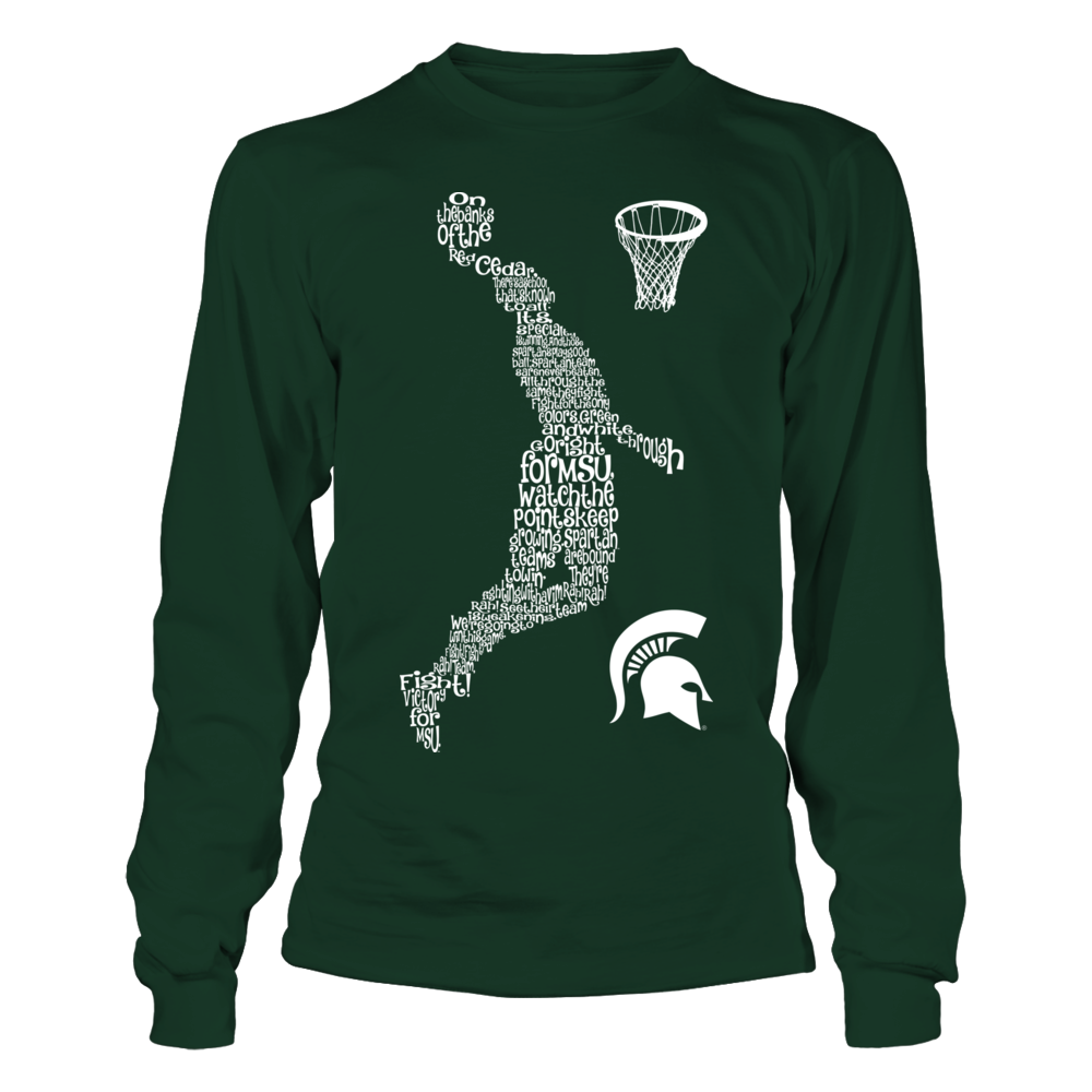 Michigan State Spartans - Fight Song Inside Basketball Player Front picture