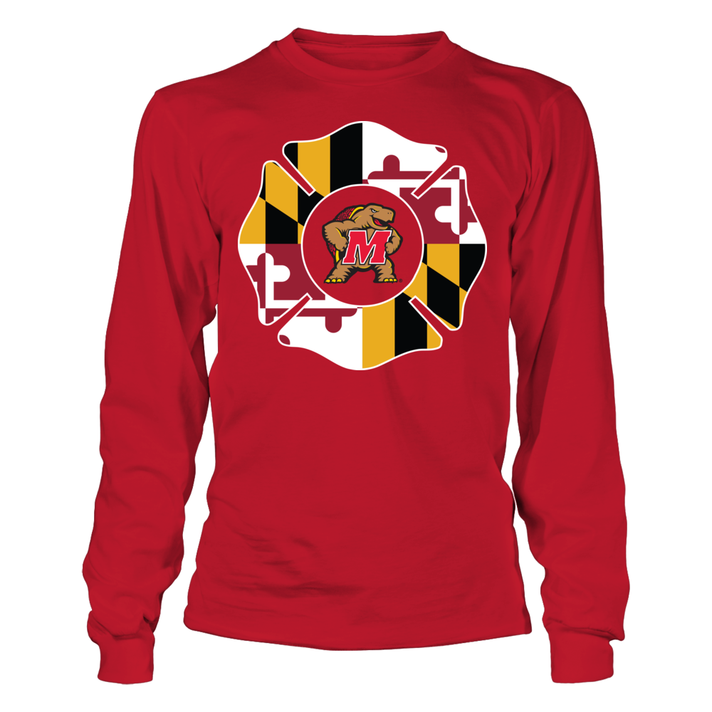 Maryland Terrapins - Firefighter - State Flag Emblem Front picture