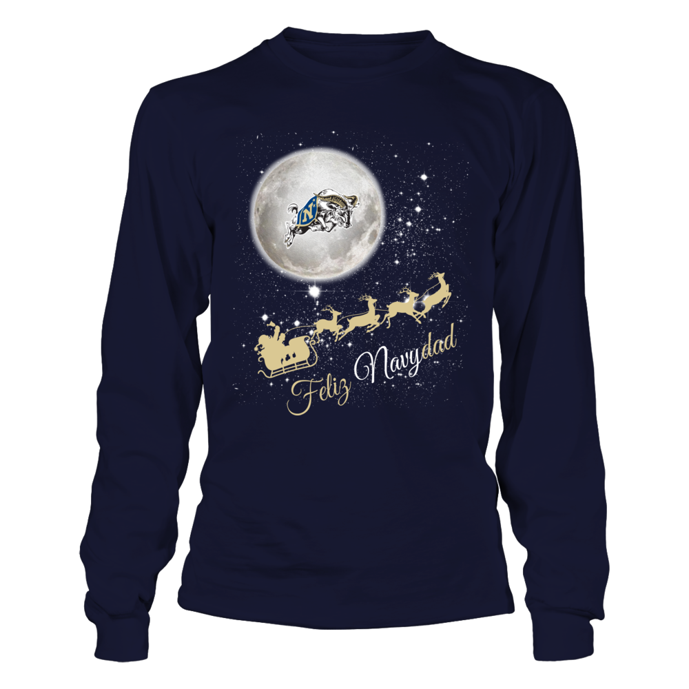 Navy Midshipmen - Christmas - Sleigh And Team Quote Front picture