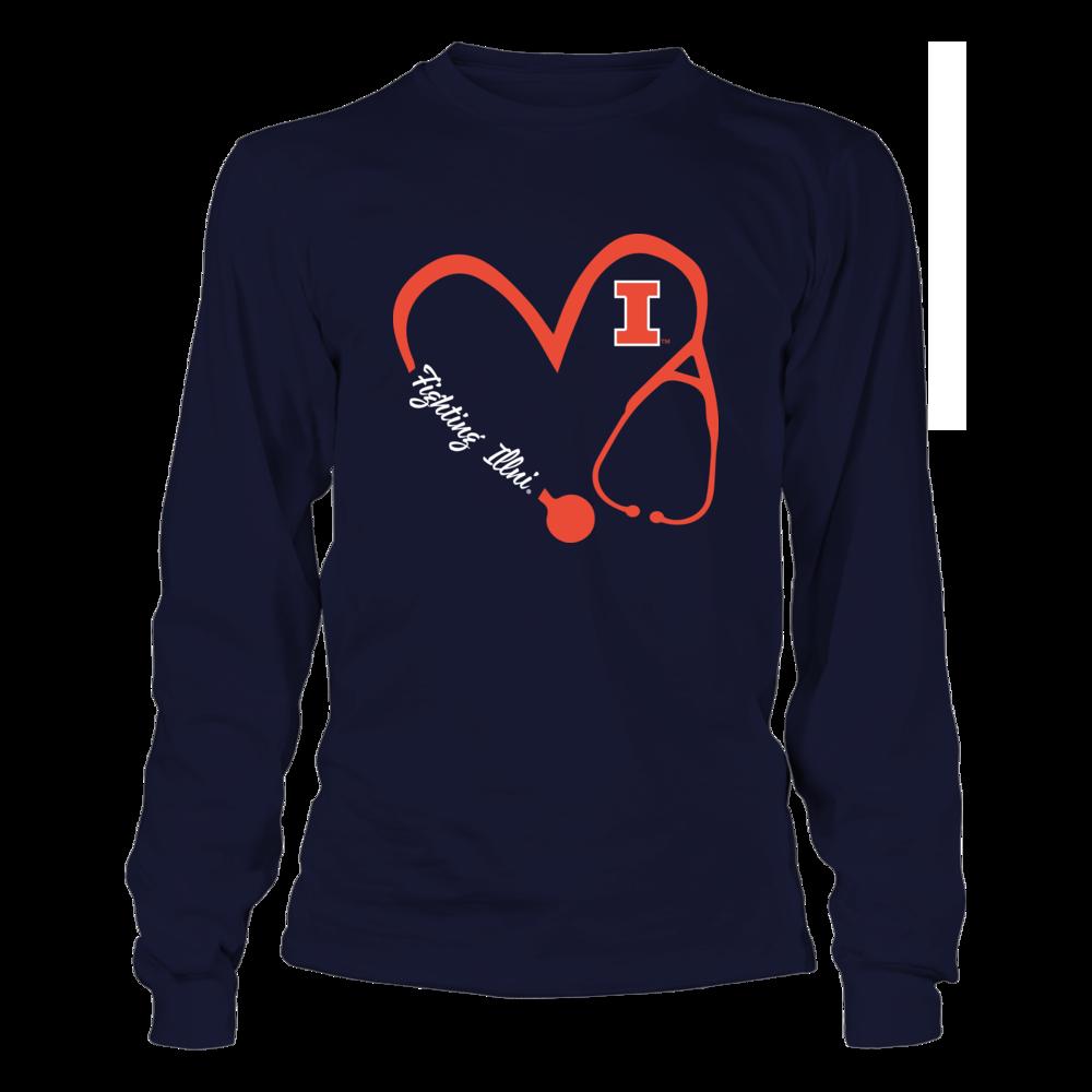 Illinois Fighting Illini - Heart 3/4 - Nurse Front picture