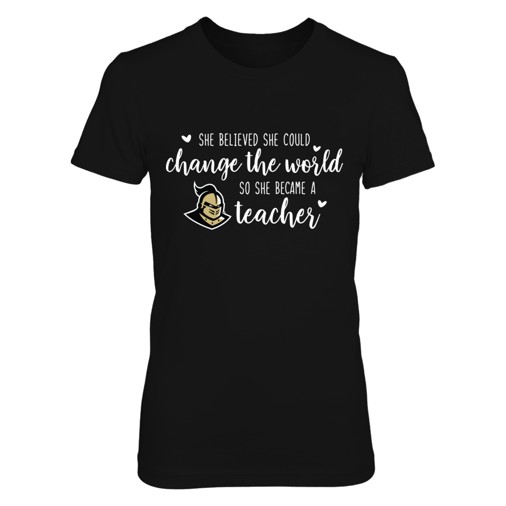 She Believed She Could Change the World USC Trojans Teacher T-Shirt Front picture