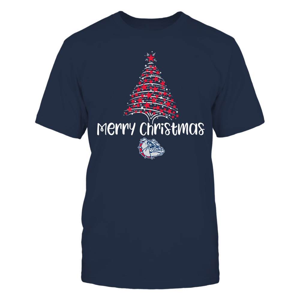 Starry Christmas Tree Gonzaga Bulldogs T-Shirt | Tank Front picture