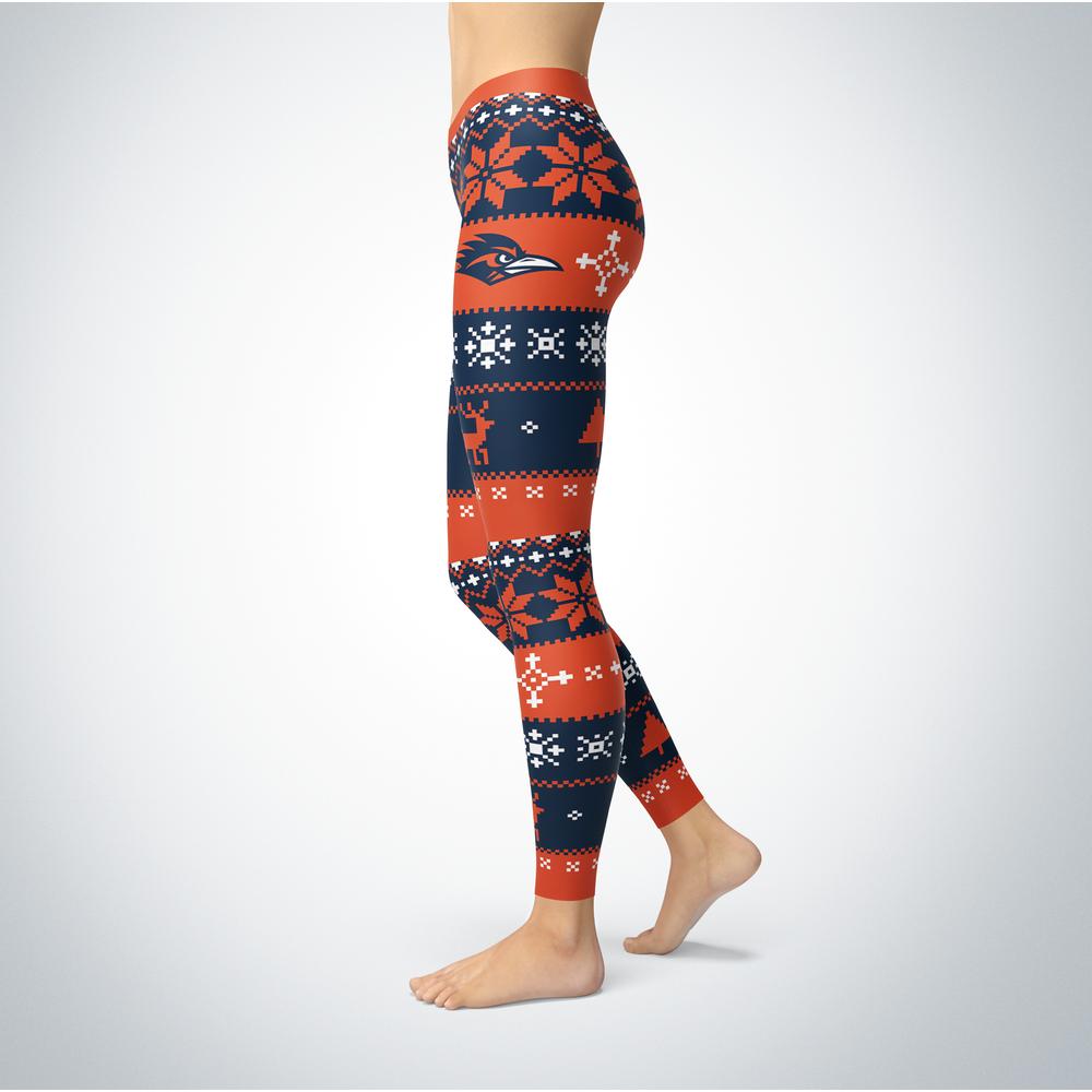 Knitted Christmas UTSA Roadrunners Leggings Front picture