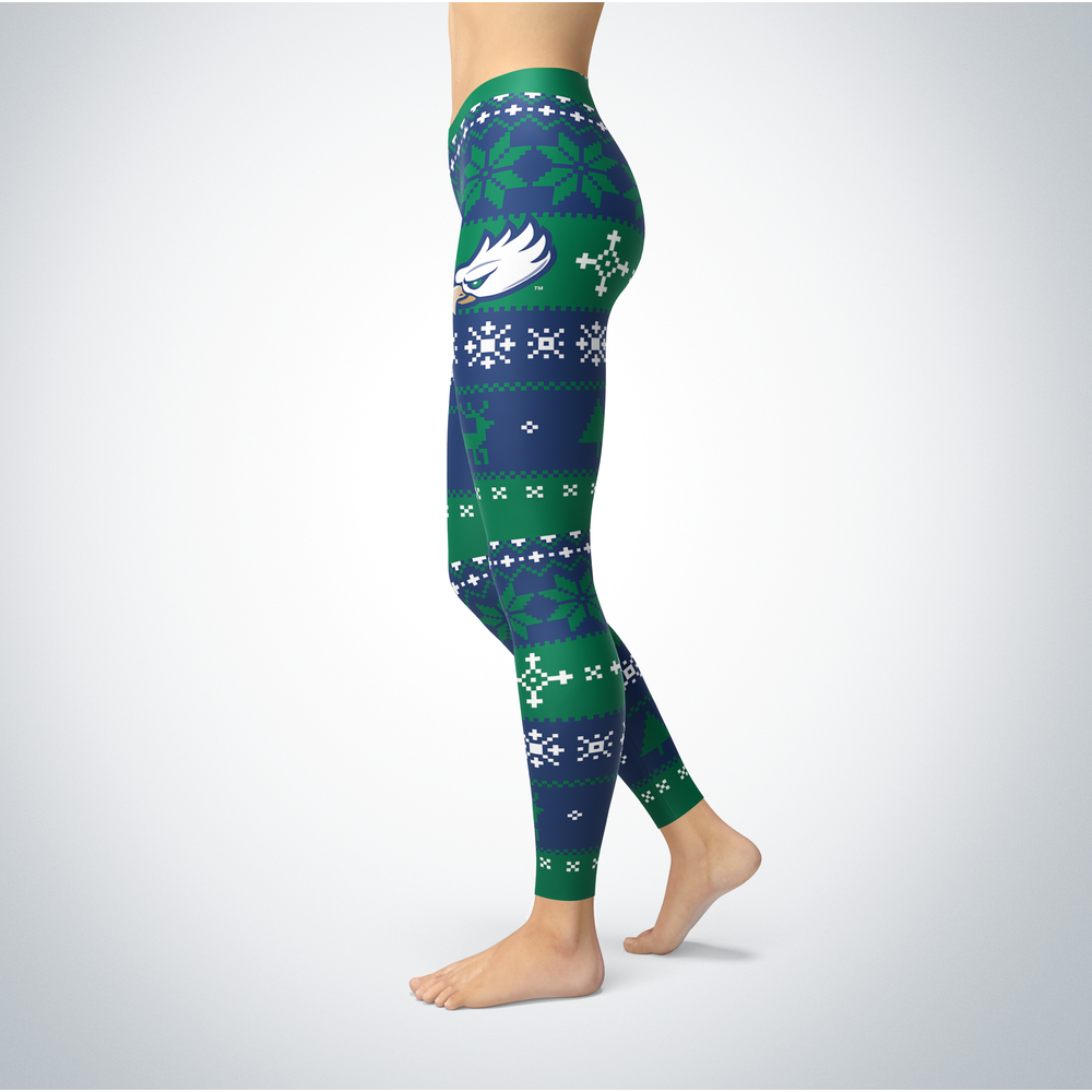 Knitted Christmas Florida Gulf Coast Eagles Leggings Front picture