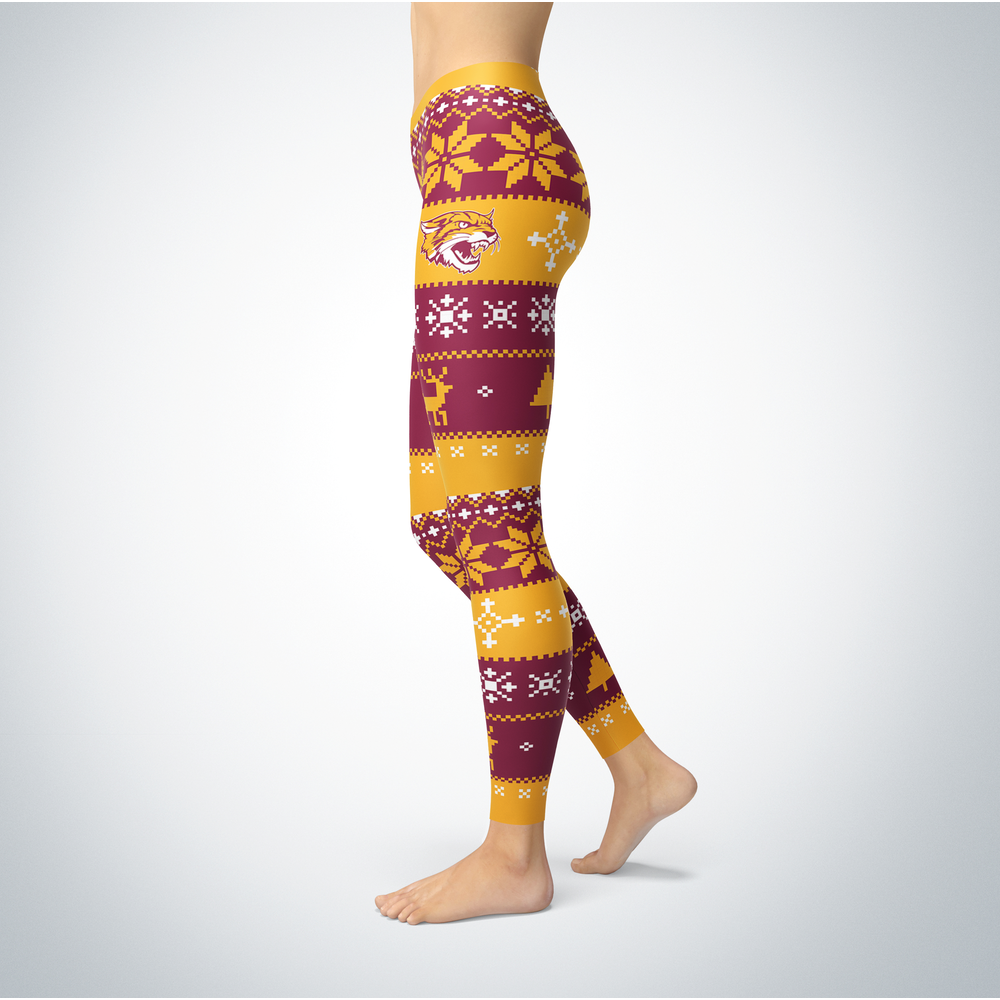 Knitted Christmas Bethune-Cookman Wildcats Leggings Front picture
