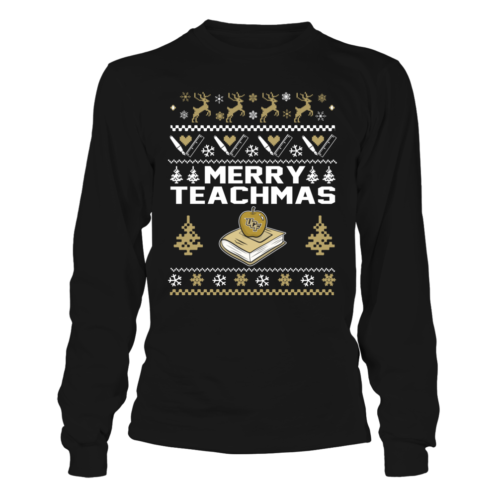 UCF Knights - Christmas - Teacher - Merry Teachmas Ugly Sweater Front picture