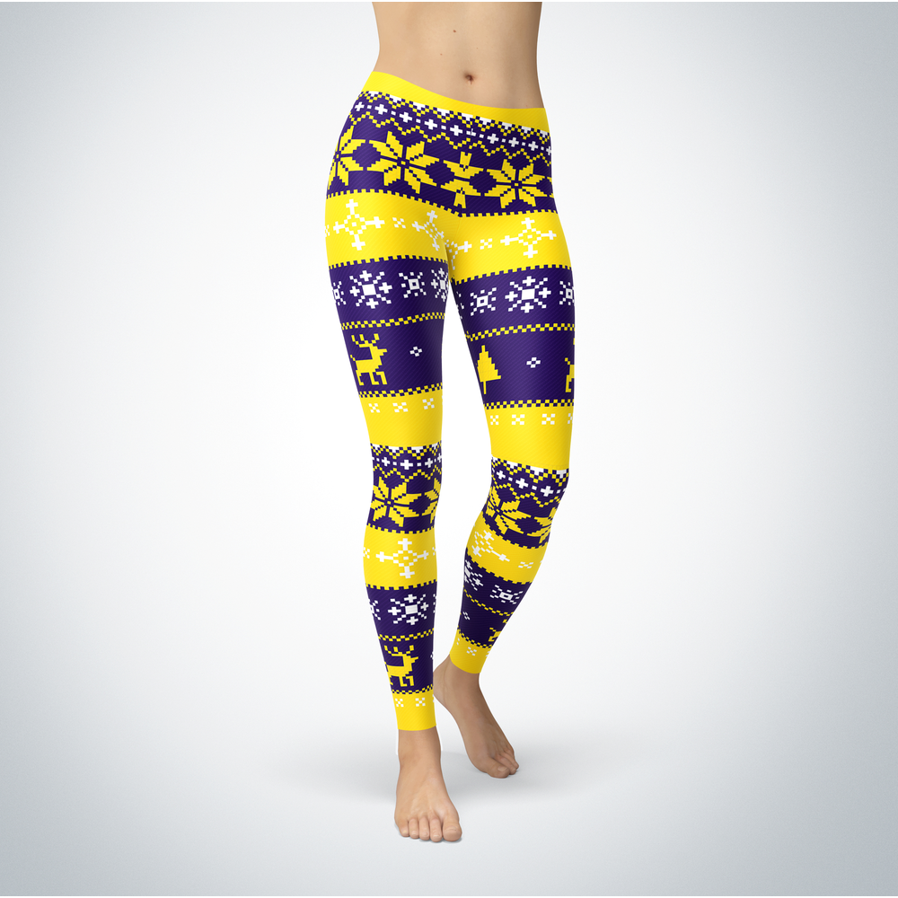 Knitted Christmas - Minnesota State Mavericks - Leggings Front picture