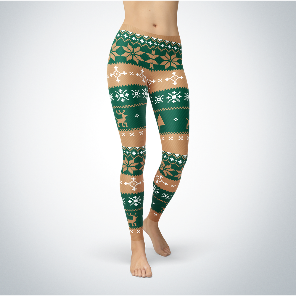 Knitted Christmas - Cleveland State Vikings - Leggings Front picture
