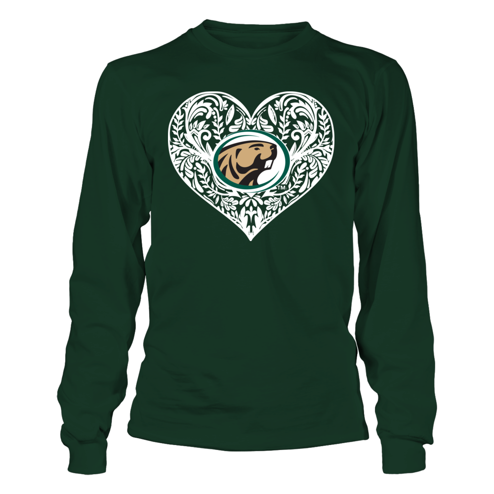 Bemidji State Beavers - Pattern Heart - Original Front picture