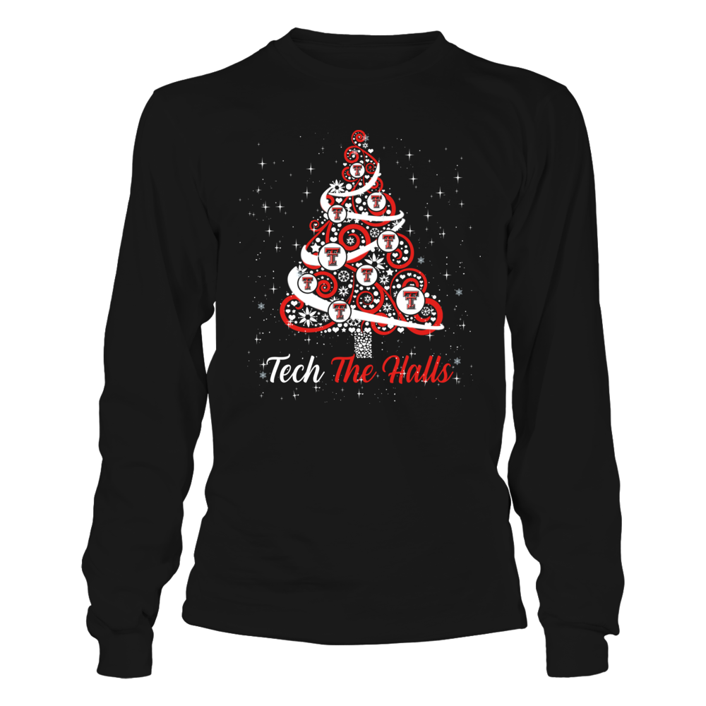 Texas Tech Red Raiders - Logo Christmas Tree - Team Christmas Quote Front picture