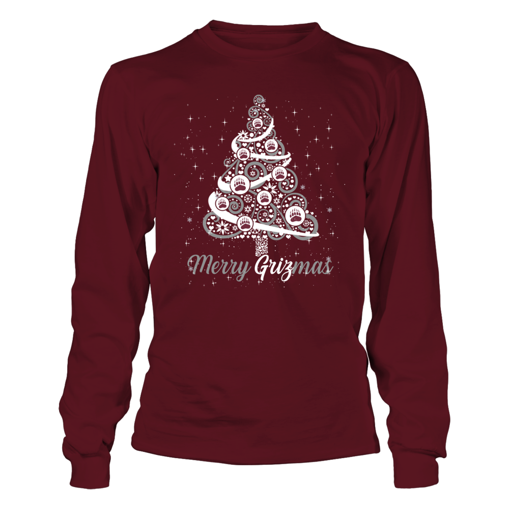 Montana Grizzlies - Logo Christmas Tree - Team Christmas Quote Front picture