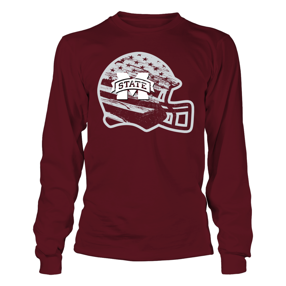 Mississippi State Bulldogs - Nation Flag Helmet Front picture