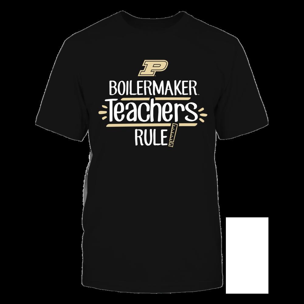 Boilermaker Teachers Rule Purdue Boilermakers T-Shirt Front picture