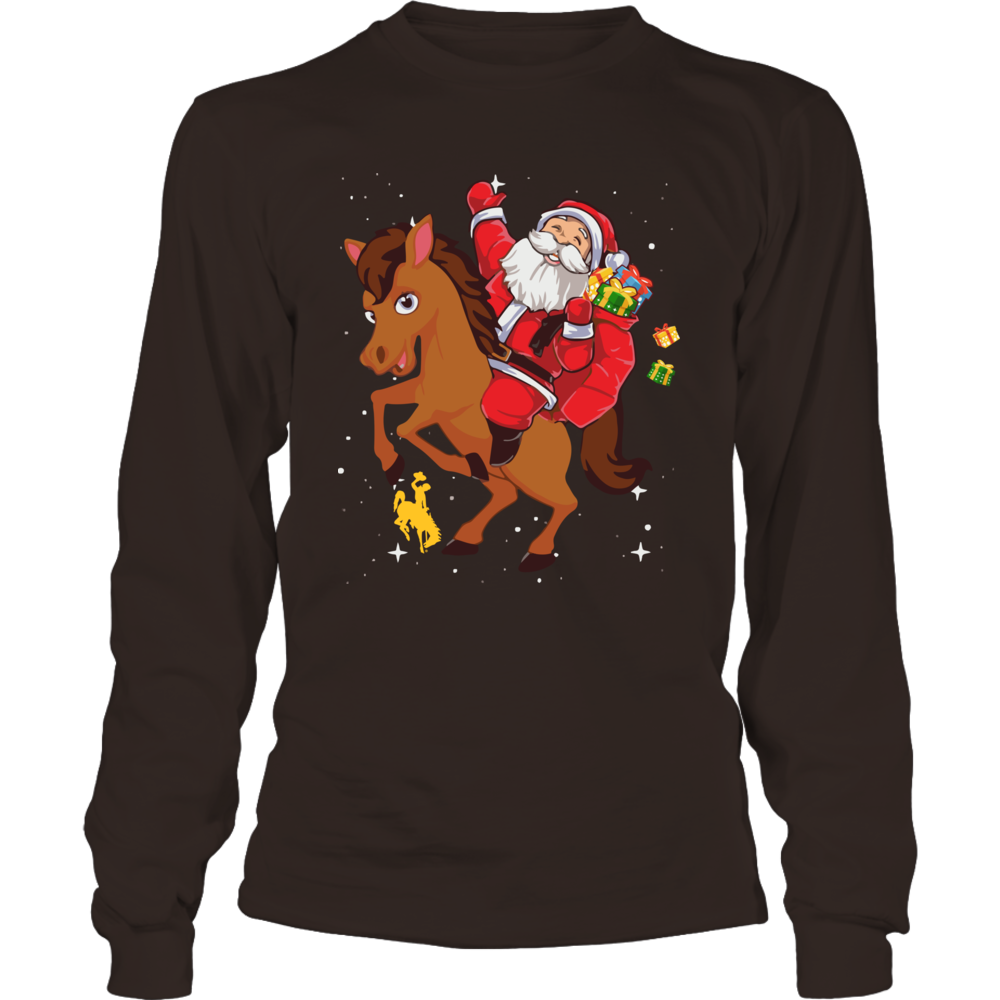 Wyoming Cowboys - Christmas - Santa On Horseback Front picture
