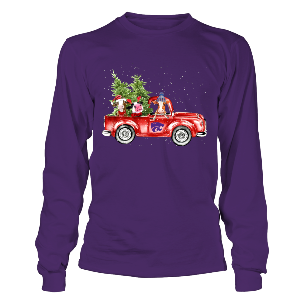 Kansas State Wildcats - Farmer - Cows Christmas Truck Front picture