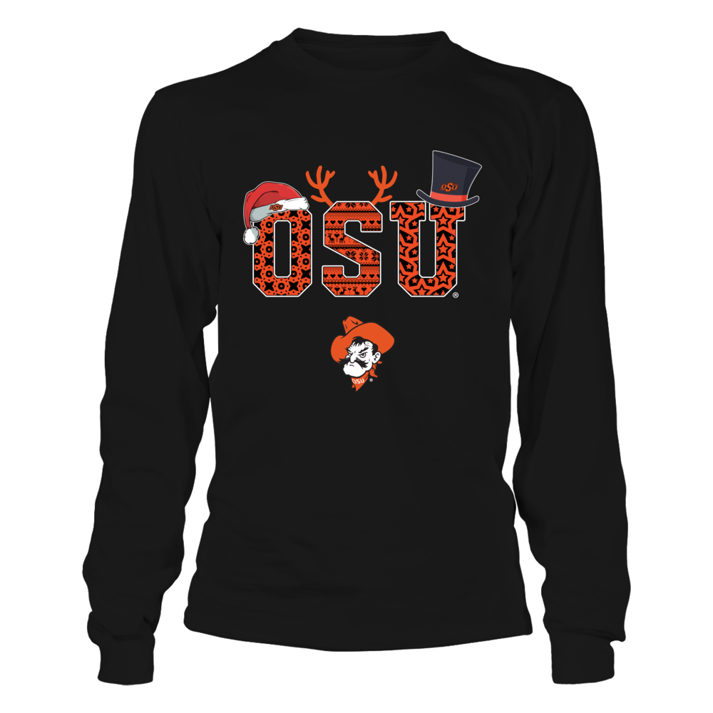 Oklahoma State Cowboys - Christmas Patterned Letters Front picture