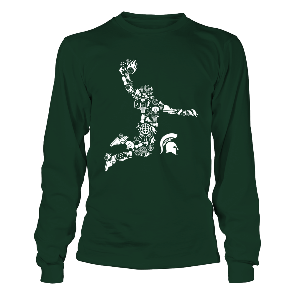 Michigan State Spartans - Basketball Things Inside Player Front picture