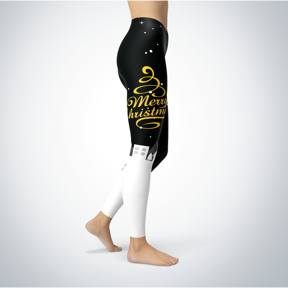 Santa Merry Christmas - Long Beach State 49ers - Leggings Front picture
