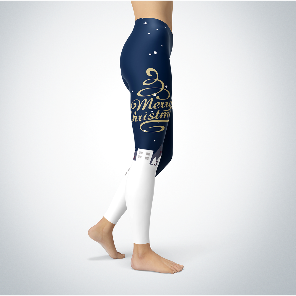 Santa Merry Christmas - Oral Roberts Golden Eagles - Leggings Front picture