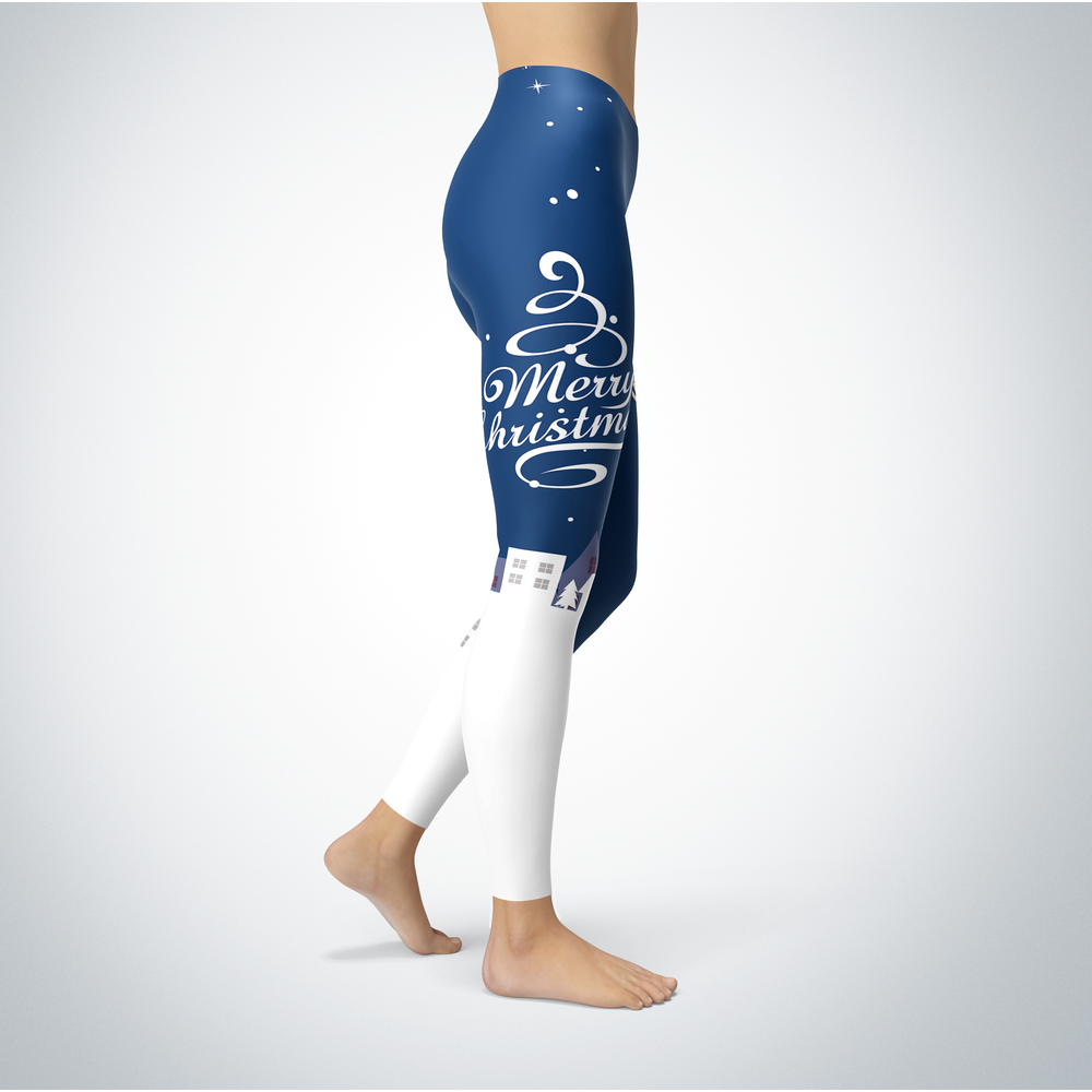 Santa Merry Christmas - Washburn Ichabods - Leggings Front picture