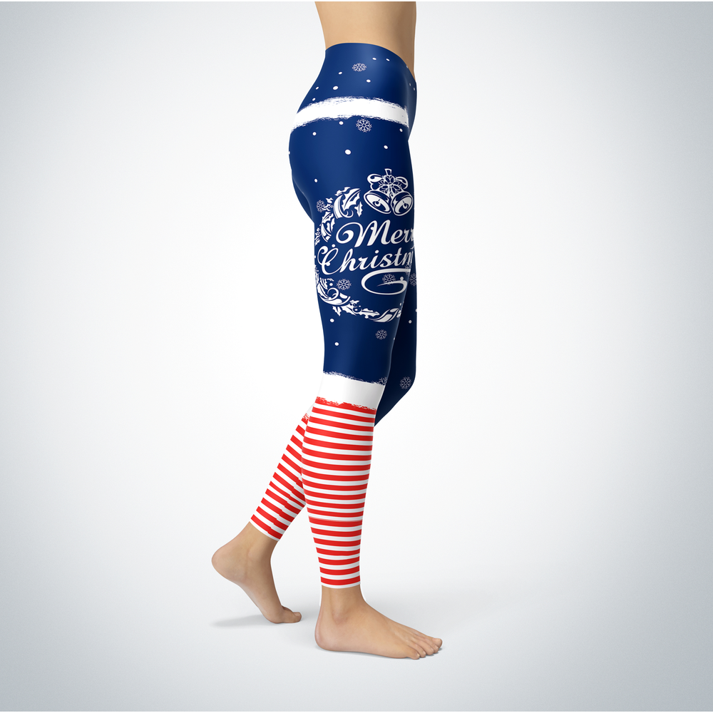 Elf Christmas - Navy Midshipmen - Leggings Front picture