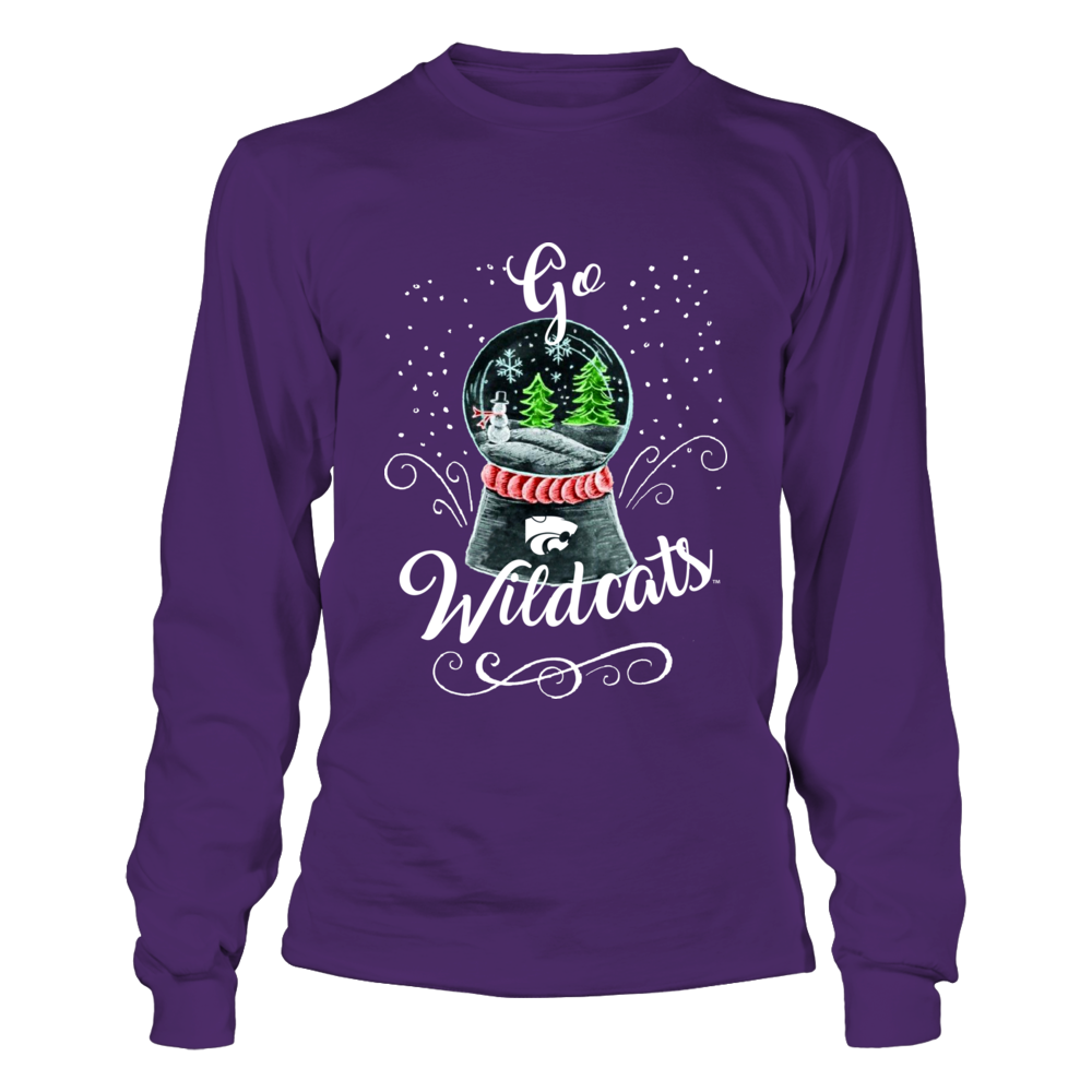 Kansas State Wildcats - Christmas Glass Sphere Slogan Front picture