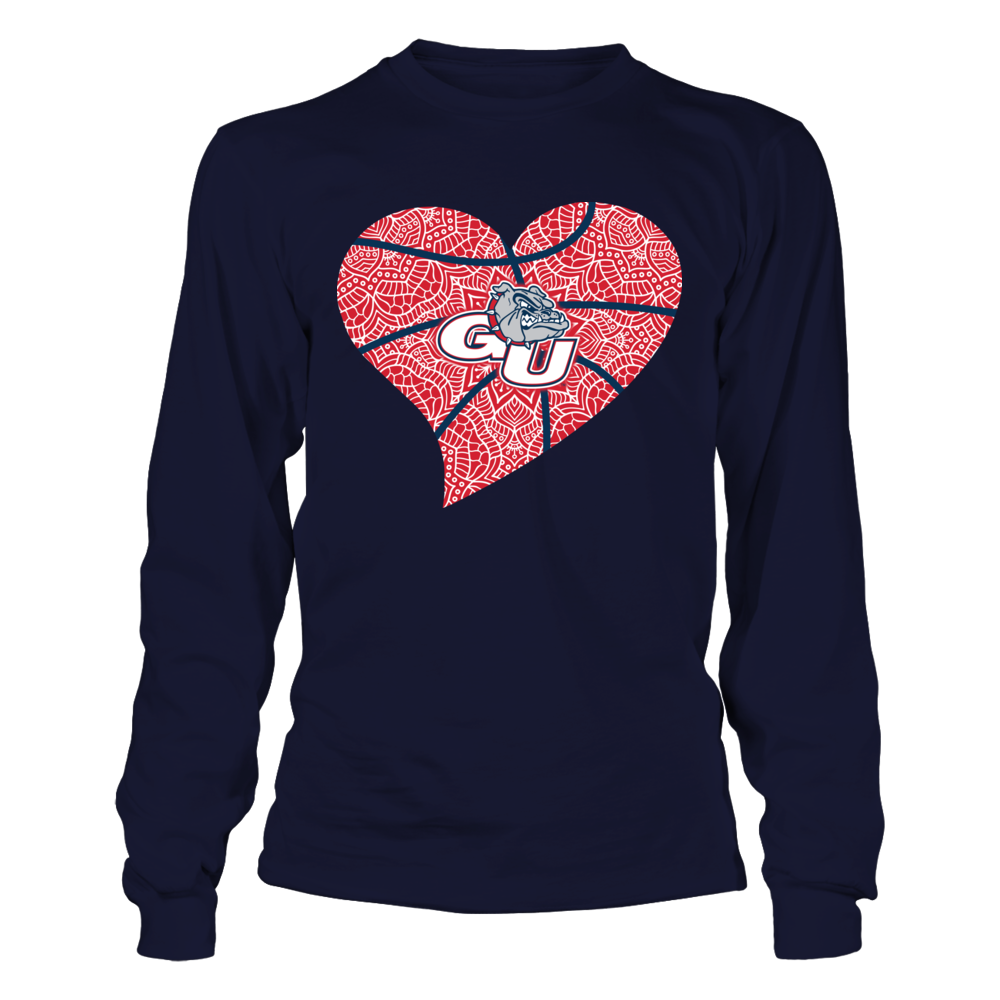 Gonzaga Bulldogs - Zentangle Heart Basketball Front picture