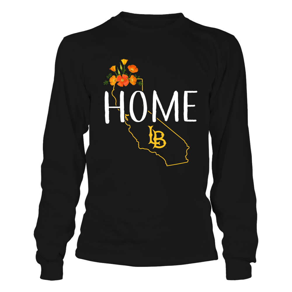 Long Beach State 49ers -  State Flowers Home With State Outline Front picture