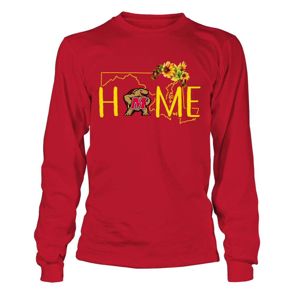 Maryland Terrapins - State Flowers Home With State Outline Front picture