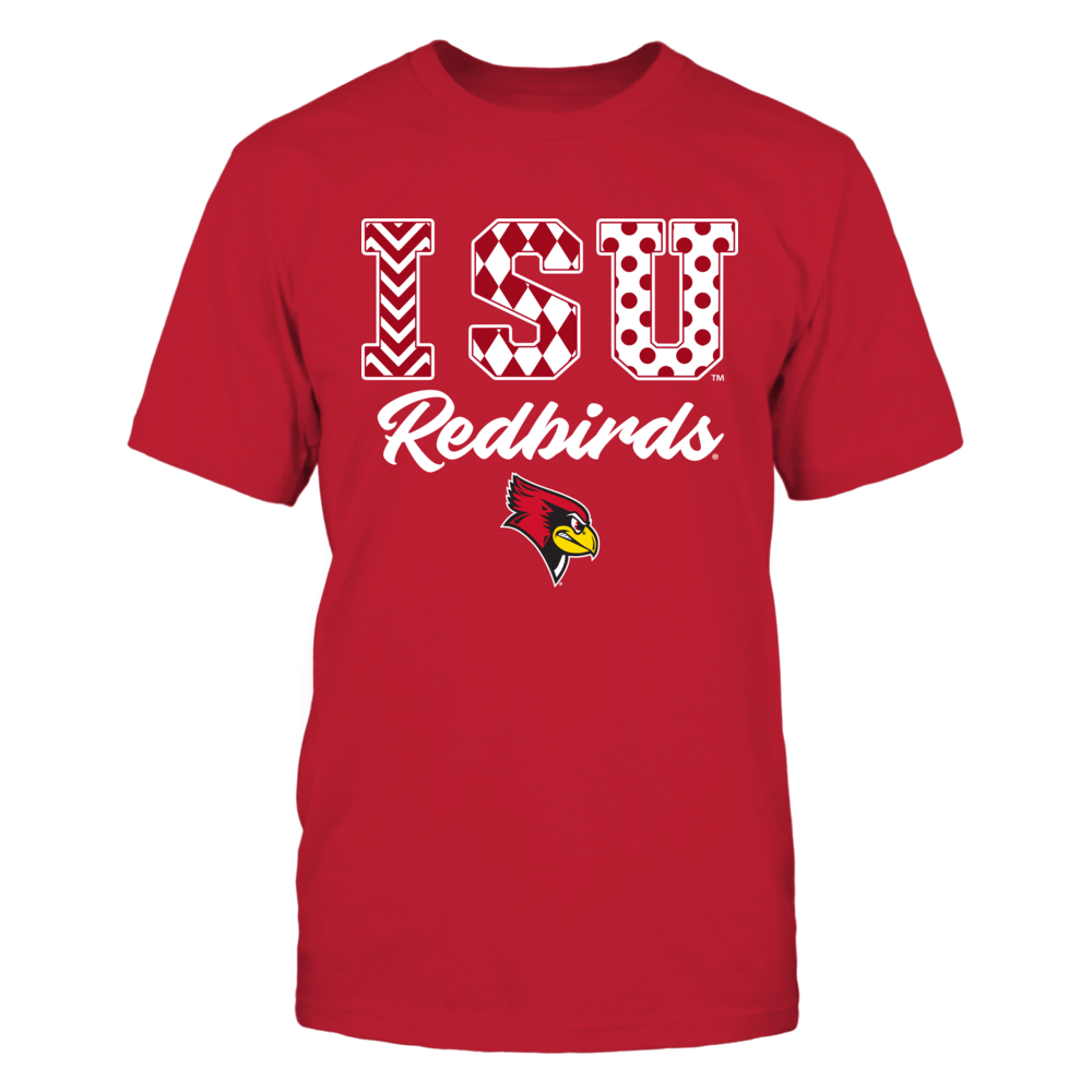 Illinois State Redbirds -  Patterned Letters Front picture