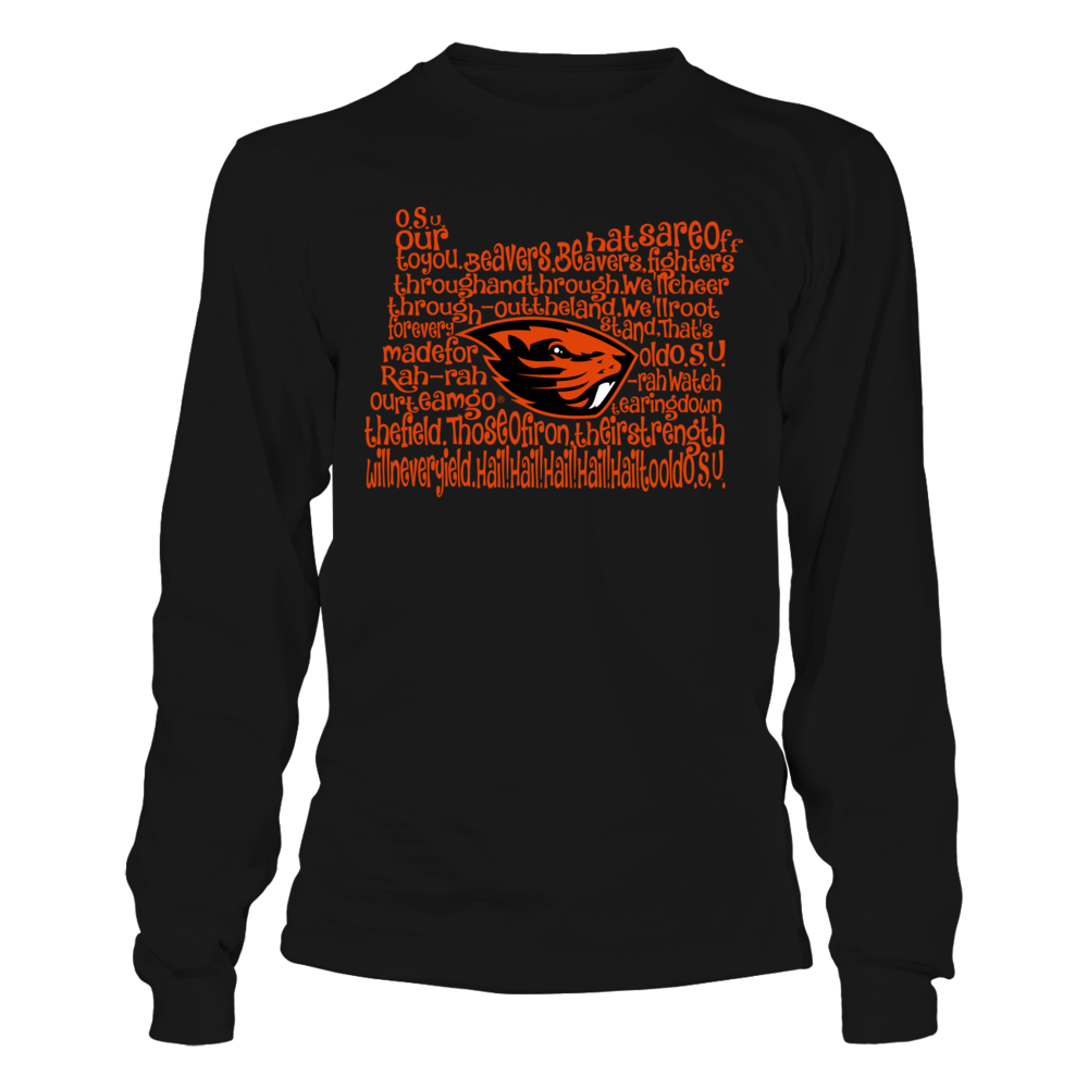 Oregon State Beavers - Fight Song Inside State Map Front picture