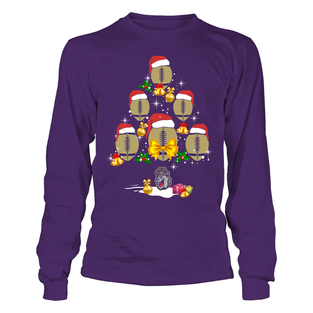James Madison Dukes - Football Symbol Christmas Tree Front picture