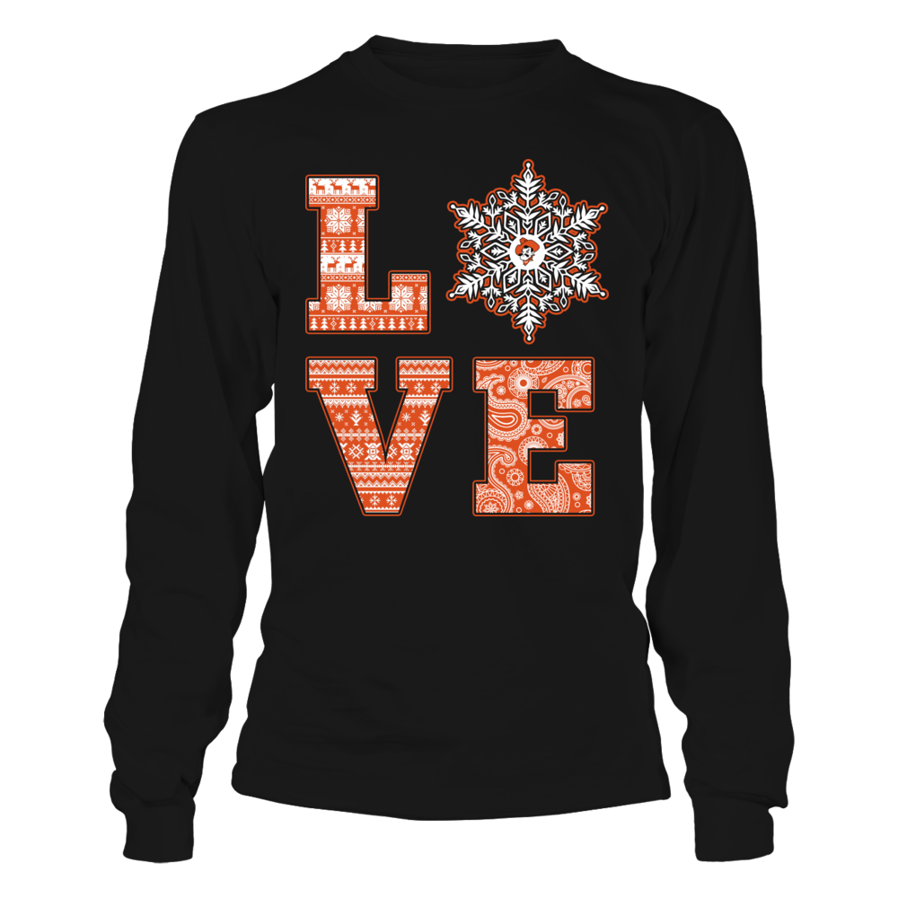 Oklahoma State Cowboys - Christmas - Patterned Love Snowflake Front picture
